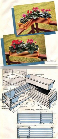 Deck Planter Plans - Outdoor Plans and Projects | WoodArchivist.com