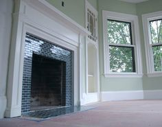 Subway Tile Fireplace Surround Picturesque Decoration Outdoor Room Is Like Subway Tile Fireplace Surround - Mapo House and Cafeteria Tile Around Fireplace, Subway Tile Fireplace, Fireplace Tile Surround, Fireplace Surrounds, Fireplace Design, Fire Surround, 1930s Fireplace, Fireplace Update, Fireplace Mantle