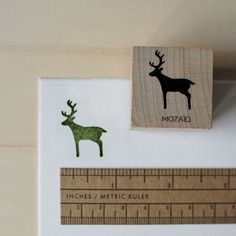 Deer Rubber Stamp