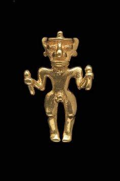 Male effigy pendant; Chiriquí, A.D. 700–1550; Chiriquí Province, Panama