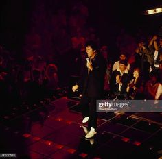 Shakin' Stevens performs on stage at the Montreux Rock Festival held in Montreux Switzerland in May 1984