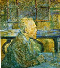 Van Gogh drinking absinthe. By Toulouse Lautrec