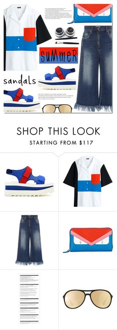 """""""The Cutest Summer Sandals"""" by bibibaubau ❤ liked on Polyvore featuring STELLA McCARTNEY, Jil Sander Navy, MSGM, Fendi, Arche, Ray-Ban, white, red, Blue and summersandals"""
