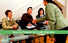 A job interview is one of the most drawn-out and intimidating ways of making first impression. However, it's also your opportunity to get on an employer's good side, which can give you a distinct edge over even those applicants whose credentials are better than yours. To prepare for a job interview, use these pointers.  Read more here : http://www.wikihow.com/Prepare-for-a-Job-Interview