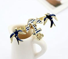 Seagull and Anchor Two Finger Fashion Ring from LilyFair Jewelry, $9.99