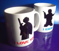 Hey, I found this really awesome Etsy listing at https://www.etsy.com/listing/115639963/pair-of-i-love-you-i-know-star-wars