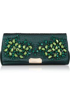 Burberry Shoes & Accessories Crystal-embellished satin shoulder bag NET-A-PORTER.COM