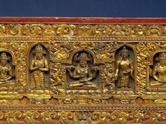 18-го века, Тибет, Центральная фигура-это Праджняпарамита, мать всех будд обложка книги золоченая резная древесина