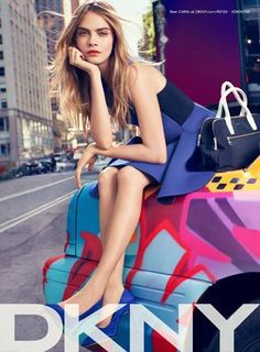 Cara Delevingne for DKNY S/S 2014