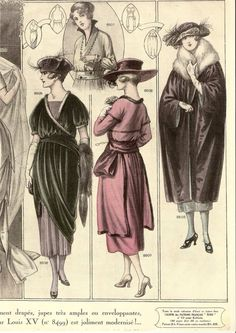 Circa 1920 French fashion illustration  ( via  Un rincón de mi: LAMINAS VINTAGE)