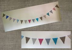 A vintage tea party Wedding. This was made to go around a photo booth. #bunting #weddings