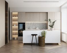 Modern Luxury Kitchens For A Grand Kitchen Kitchen Room Design, Luxury Kitchen Design, Best Kitchen Designs, Luxury Kitchens, Living Room Kitchen, Interior Design Kitchen, Home Kitchens, Kitchen Decor, Small Kitchens
