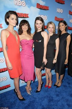 Ladies of the brink: Jaimie posed with Carla Gugino, Maribeth Monroe, Mary Faber and Melan...