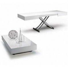 The Cristallo is a transforming coffee table with glass top