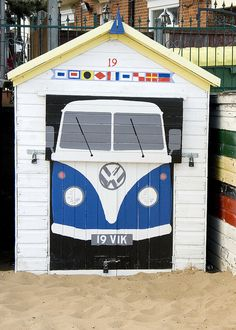 Beach hut by padswift01, via Flickr