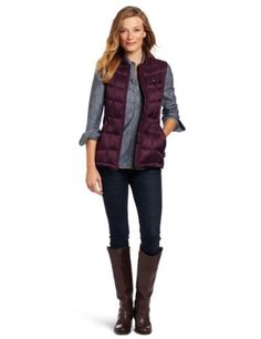Woolrich Women's Abington Vest Woolrich. $108.62. 100% Polyester. Princess seams for shaping. Vest packs into lower left hand warmer pocket. Rib knit collar. Zipper closure. Concealed center front zipper. Machine Wash. Windproof/Water resistant-repellant