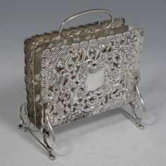 Beautiful assortment of Antique Silver Objet de Art with full details. All Objet dArt is available to purchase today with free delivery & transit insurance. Antique Writing Desk, Antique Desk, Letter Rack, Letter Holder, Vintage Silver, Antique Silver, Hammered Silver, Sterling Silver, Silver Candle Holders