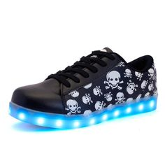 Night Luminous LED Shoes For Men Casual Shoes for Male Glowing Lighted Zapatillas USB 7 Color LED Shoes 15M0089