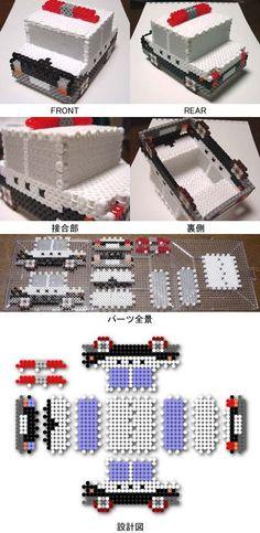 3D Police car perler beads by shimabayashi: