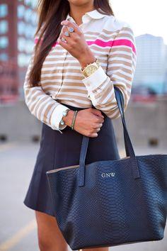 GiGi New York   A Southern Drawl Fashion Blog   Black Teddie Tote
