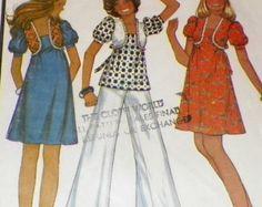 Sewing Pattern Pants UNCUT Wide Leg Bell by sewprettypatterns