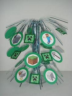Handmade Minecraft Birthday Party Supplies Table Centerpiece Decoration Creeper | eBay