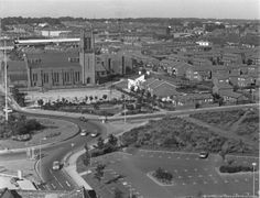 *Tray URU - hey John compare this to the earlier photo of the same spot* MCL/4/6 Black and white photograph showing the roundabout near St Thomas' Church, Westfield Street, St.Helens 1985. ............. MCL - Clare Collection 4 - Black and white photographs taken from Beecham's Tower, St.Helens St Helens Town, Saint Helens, St Thomas Church, Family Album, My Town, Back In The Day, Over The Years, Paris Skyline, Working Class