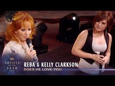 """In honor of Reba being celebrated as the Artist of a Lifetime at we're throwing it back to her incredible duet of """"Does He Love You"""" with Kell. Love Yourself Song, Emotional Songs, Shall We Dance, Sing To Me, Kelly Clarkson, Billboard Music Awards, Country Songs, American Idol, Dancing With The Stars"""