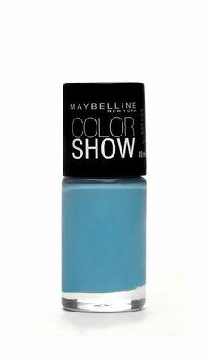 #CoolBlue #Azul #Cool #Onda #Otoño #Invierno #Blue Cool, Color Show, Drink Sleeves, Maybelline, Nail Polish, Make Up, Nail Art, My Love, Nails