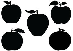 Apple-Silhouette-Vector