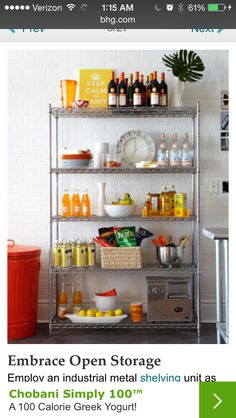Utility shelf in kitchen