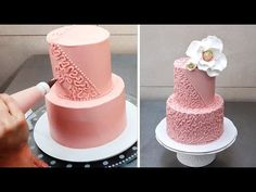 Cake Decorating Tip - Buttercream Piping Technique by CakesStepbyStep - YouTube