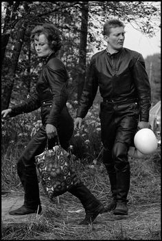 Motorbike couple, West Germany, 1965 by Leonard Freed Leonard Freed, World Best Photographer, Civil Rights Movement, Free Photography, Lady Biker, The New School, Magnum Photos, Working Class, Timeline Photos