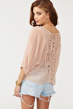 Crochet tie top in blush from Nasty Gal - $48