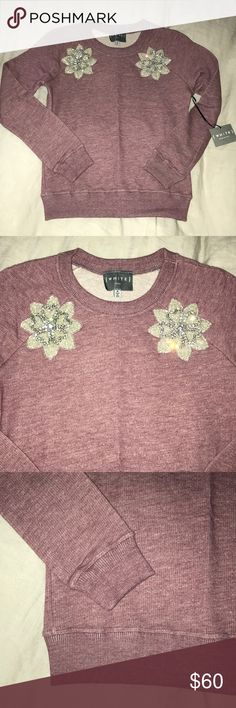 NWT White NYC Sweatshirt w/Crystal Embroidery Brand new unique and trendy sweatshirt made in USA ! White NYC Tops Sweatshirts & Hoodies