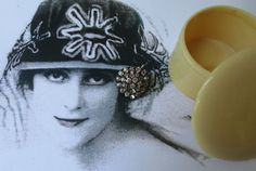 Antique French Brooch and Art Deco Box by CharmainesWhimzy on Etsy, $25.00