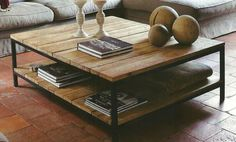 Beautiful table from scaffolding wood