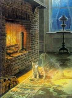 """James Lumbers Cats...I've treasured a large framed print of """"Cats"""" ever since it was first available."""