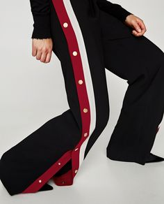 Still here for the track pant trend! Striped track pants from Zara.
