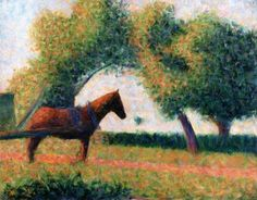 The Harnessed Horse, Georges Seurat