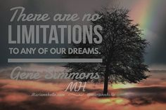 There are no limitations to any of our dreams.   @mariannhelle