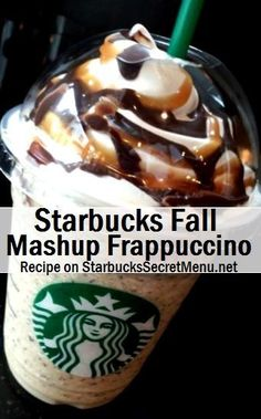 Because a bunch of tasty ingredients put together makes for one extra tasty Frappuccino! Learn how to order this Starbucks Secret Menu treat! Starbucks Fall Drinks, Bebidas Do Starbucks, Starbucks Secret Menu Drinks, Starbucks Recipes, Coffee Recipes, Starbucks Hacks, Starbucks Order, Drink Recipes, Smoothie Recipes