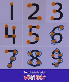 Touch Math using Wikki Stix Manipulatives - visual and sensory learning. Perfect for special needs and prek.