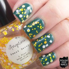 Love, Angeline - Sweet Decay (over OPI's Amazon...Amazoff) //  2013 Spellbound Collection // Polish Those Nails // indie polish - glitter