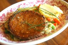 Sally K's Chik'n Potato Scallop | Loma LindaTM brand of canned shelf stable alternative meat analog products