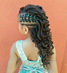 25 Cute Easter Hairstyles for Kids which are insanely easy, . - Kids fashion- 25 Cute Easter Hairstyles for Kids which are insanely easy, effortless & egg-citing Cute Easter Hairstyles for Kids - Lil Girl Hairstyles, Kids Braided Hairstyles, Braided Ponytail, Hairstyles 2018, Toddler Hairstyles, Nice Hairstyles, Braided Waves, Hairstyles For Girls Easy, Mixed Baby Hairstyles