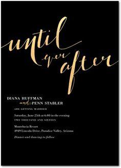 Until Ever After - Signature Foil Wedding Invitations - BHLDN - Black : Front