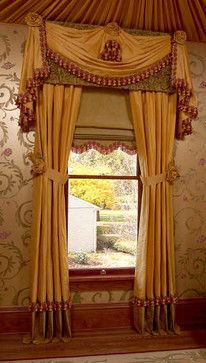 VIctorian Music Study - traditional - curtains - chicago - Interiors by Mary Susan