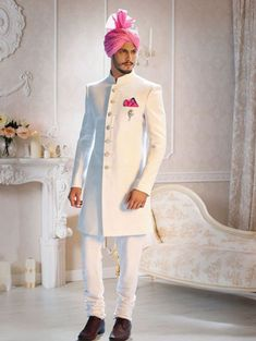 wedding suits Indian wedding dress that every groom will ever want for the most valuable day of his life sherwani for groom for wedding,reception,sangeet Sherwani For Men Wedding, Wedding Dresses Men Indian, Groom Wedding Dress, Sherwani Groom, Wedding Suits, Modest Wedding Dresses, Wedding Reception, Trendy Wedding, Wedding Ideas