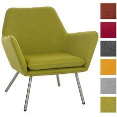 CLP Design Edelstahl Lounge-Sessel CARACAS, Stoffbezug, Polsterstärke 6 cm, Sitzhöhe 40 cm Hellgrau: Amazon.de: Küche & Haushalt